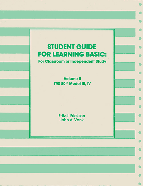 Ira goldklangs trs 80 revived site news author fritz j erickson and john a vonk publisher learning publications inc pages 140 tosec student guide for learning basic volume ii fandeluxe Images