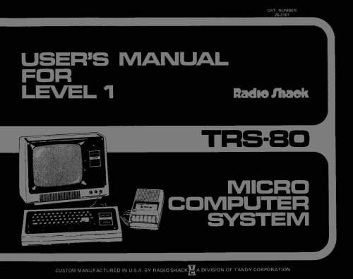 trs 80 manuals hardware manuals ira goldklang s trs 80 revived site