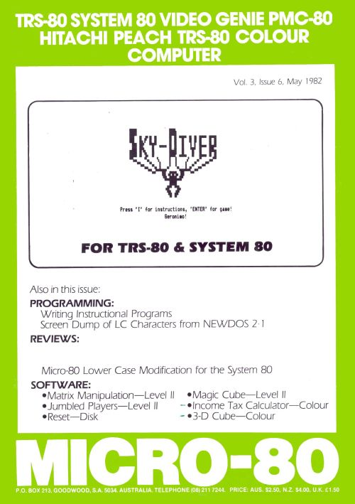 TRS-80 Magazine: MICRO-80 | Ira Goldklang's TRS-80 Revived Site