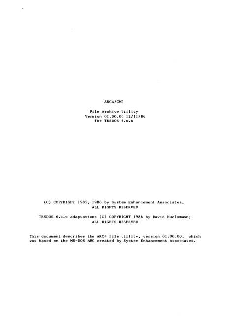 TRS-80 – Software Manuals – #-H | Ira Goldklang's TRS-80