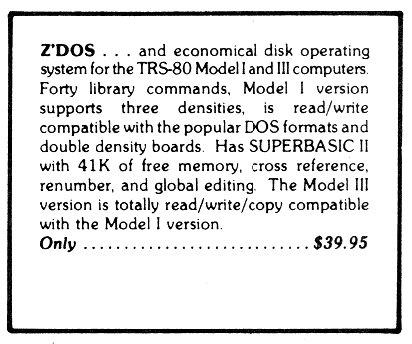 [Z'DOS Ad]